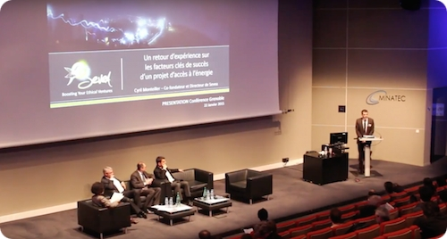 Conference on energy access, organized by Sevea through ACT program, Minatec Grenoble